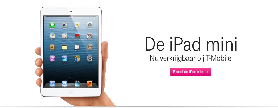 Bestel de Apple iPad mini bij T-Mobile