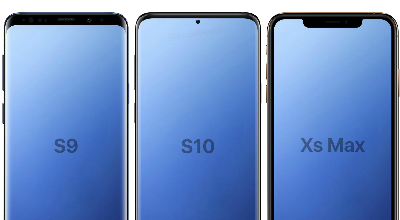 De notch van de Samsung Galaxy S10