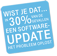 In 30% van de gevallen is een software-update de oplossing