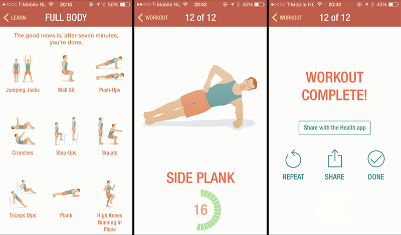 Hedendaags Fit in 7 minuten met 7 Minute Workout: mijn ervaringen - T-Mobile Blog ZM-05