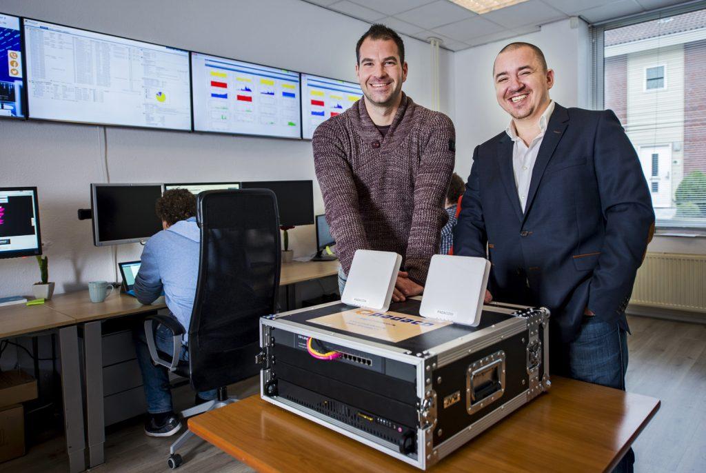 Patrick de Groot (l) en Dave van Duijvenbode van PADACO.