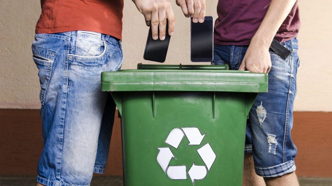Recycle telefoon