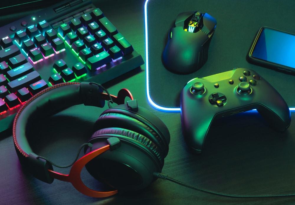 gaming setup controller besturing