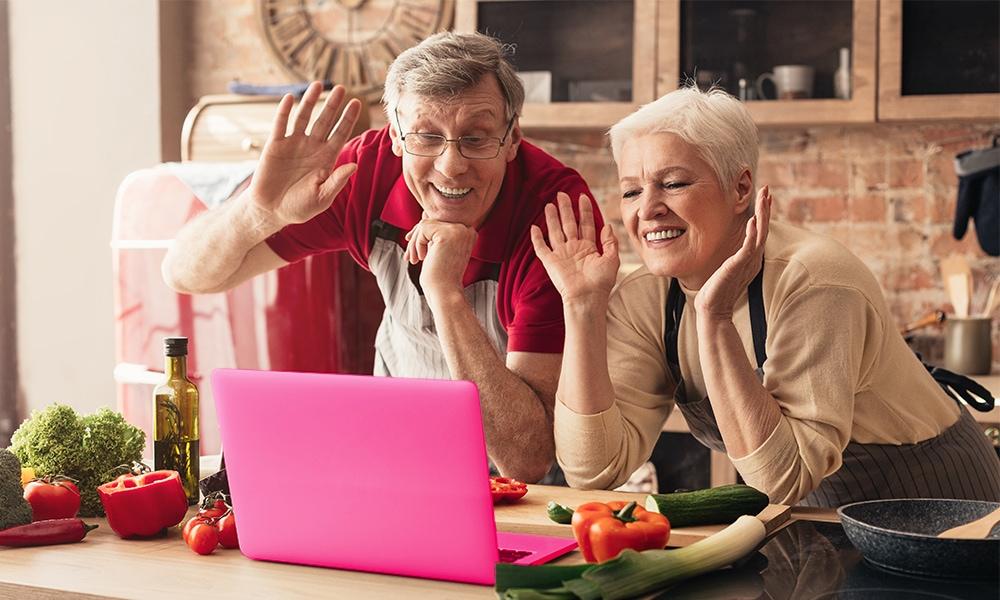 videobellen opa en oma