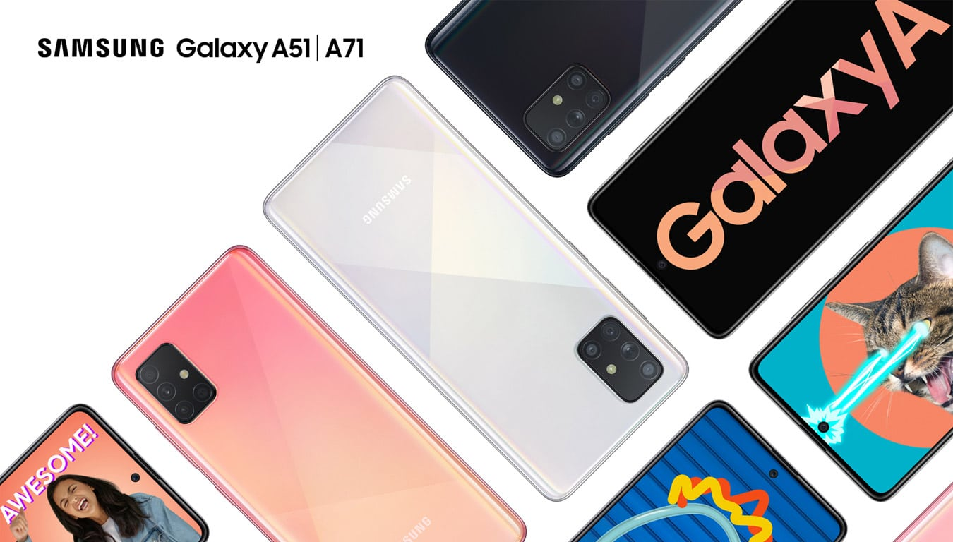 samsung galaxy a51 galaxy a71 software update